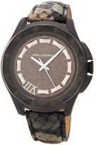 Karl Lagerfeld Men&s Seven Snake Embossed Leather Strap Watch