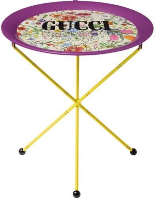 Gucci Flora Printed Folding Metal Table