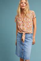 Pilcro and the Letterpress Pilcro Button-Front Denim Skirt