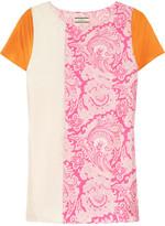 By Malene Birger Elvura color-block printed silk top