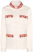 Tory Burch Berkely Embroidered Denim Jacket