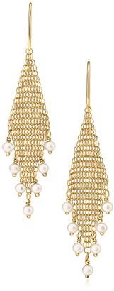 Tiffany & Co. Elsa Peretti Mesh fringe earrings in 18k gold with freshwater pearls