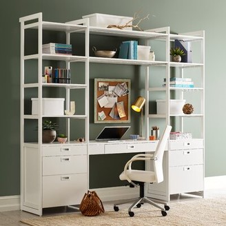 Martha Stewart California Closets The Everyday System Reversible Executive Desk with Hutch