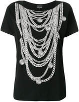 Just Cavalli chain necklace print T-shirt