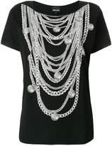 Just Cavalli chain necklace print T-shirt