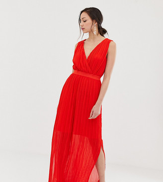 Y.A.S Tall pleated wrap maxi dress