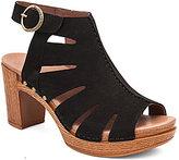 Dansko Demetra Milled Nubuck Ankle Strap Peep Toe Sandals