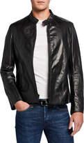 Schott NYC Men's Racer Waxy Cowhide Leather Jacket