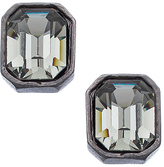 Diana Warner Gunmetal and Black Diamond Crystal Carolyn Stud Earrings