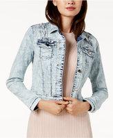 GUESS Cotton Lace-Up Denim Jacket