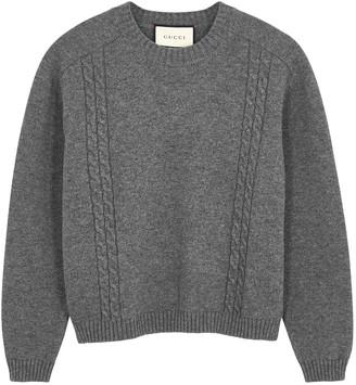Gucci Grey Melange Knitted Jumper