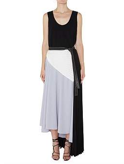 CHRISTOPHER ESBER Asymmetric Pleated Tank Dress