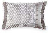 J Queen New York Babylon Pleated Damask & Diamond Faux-Buttoned Satin Boudoir Pillow