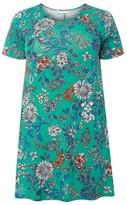 Evans Plus Size Women's Floral Print Swing Top