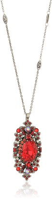 Sorrelli Red Ruby Salvia Long Strand Pendant Necklace