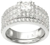 Journee Collection 4 1/3 CT. T.W. Round Cut CZ Prong Set Multiple Strand Ring in Sterling Silver