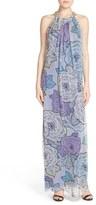 Charlie Jade Women's Embellished Silk Halter Dress
