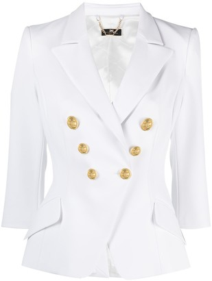 Elisabetta Franchi Double-Breasted Fitted Jacket
