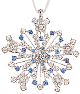 Joanna Buchanan Winter Palace Sparkle Snowflake Tree Decoration, Silver / Navy