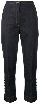 No.21 high-waisted cropped denim jeans