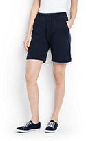 Lands' End Women's Tall Sport Knit Shorts-White
