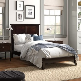 Three Posts Brazoria Extra-long Twin Bed Color: Espresso