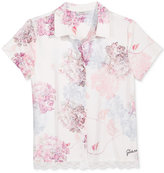 GUESS Floral Button-Up Shirt, Big Girls (7-16)