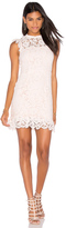Aijek Into The Night Lace Mini Dress