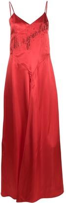 MM6 MAISON MARGIELA Glitter Logo Slip Dress