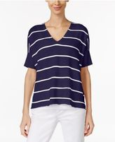 Eileen Fisher Organic Linen-Cotton Striped Sweater, Regular & Petite