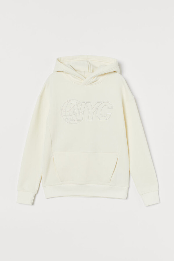 Thumbnail for your product : H&M Oversized Graphic Hoodie - White