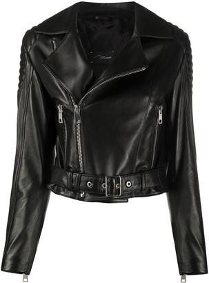 Manokhi London cropped biker jacket