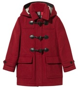 Burberry Windsor Red Wool Duffle Coat with Heart Lining