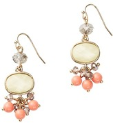 LOFT Cabochon and Coral Bead Drop Earrings