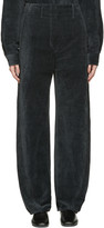 Lemaire Black Large Twisted Velvet Trousers