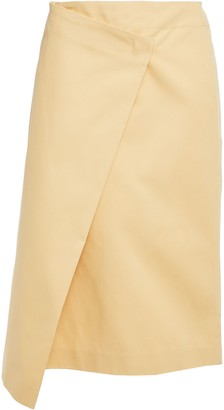 Joseph Denny Asymmetric Wrap-effect Cotton-twill Skirt