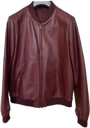 Prada Burgundy Leather Jackets