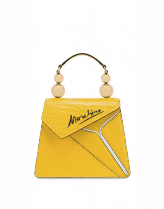 Moschino Slice Cocco Handbag Woman Yellow Size U It - (one Size Us)