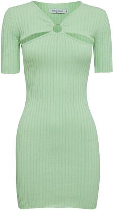 Anna Quan Sierra Cotton Ribbed-Knit Mini Dress