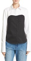 Tibi Bustier Shirt