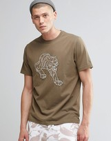 MHI Line Tiger Embroidered T-Shirt