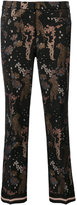 Cambio printed cropped trousers