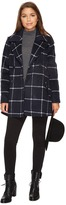 BB Dakota Parrelli Plaid Peacoat Women's Coat