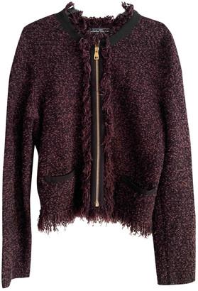 Salvatore Ferragamo Burgundy Wool Jackets