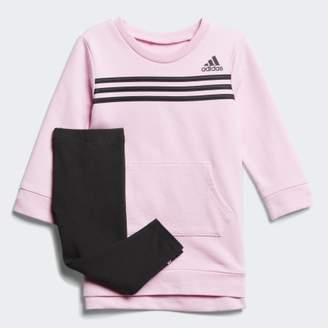 adidas Stripe Dress and Tights Set