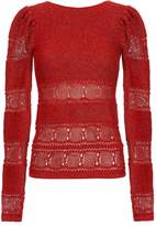 Ronny Kobo Lurex Pouf Sleeve Sweater
