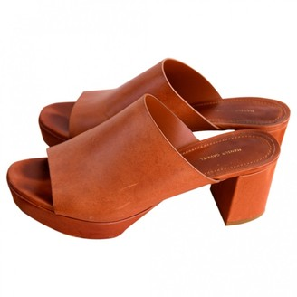 Mansur Gavriel Brown Leather Sandals