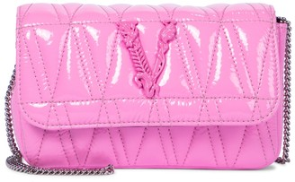 Versace Virtus Small patent leather crossbody bag