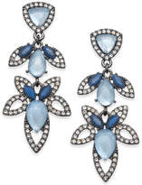 INC International Concepts Hematite-Tone Pavé & Blue Stone Openwork Drop Earrings, Created for Macy's