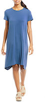 Eileen Fisher Round Neck Short Sleeve Dress